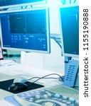 ultrasound machine in the... | Shutterstock . vector #1155190888