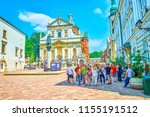 krakow  poland   june 11  2018  ... | Shutterstock . vector #1155191512