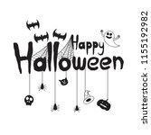 happy halloween banner creative ... | Shutterstock .eps vector #1155192982