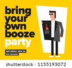 byob party template for poster  ... | Shutterstock .eps vector #1155193072