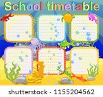 design of the school timetable... | Shutterstock .eps vector #1155204562