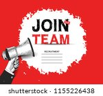 join our team advertising sign... | Shutterstock .eps vector #1155226438