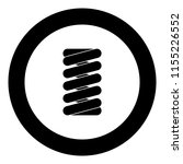 spring coil icon black color in ... | Shutterstock .eps vector #1155226552