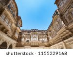 mehrangarh fort at jodhpur ... | Shutterstock . vector #1155229168