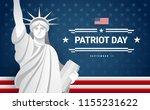 patriot day banner design   usa ... | Shutterstock .eps vector #1155231622