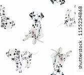 dalmatian watercolor... | Shutterstock . vector #1155234868
