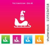santa clause   sleigh icon in... | Shutterstock .eps vector #1155236518