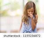 brunette hispanic girl feeling... | Shutterstock . vector #1155236872