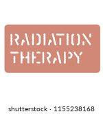 radiation sign on white   Shutterstock .eps vector #1155238168