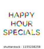 happy hour specials label | Shutterstock .eps vector #1155238258