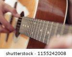 Playing Guitar. Acoustic Guita...