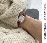 wristwatch on a woman's hand   Shutterstock . vector #1155244348