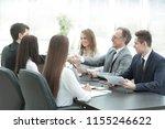 handshake of business partners... | Shutterstock . vector #1155246622