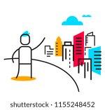 vector business illustration of ... | Shutterstock .eps vector #1155248452