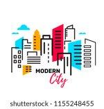 vector illustration of urban... | Shutterstock .eps vector #1155248455