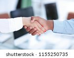 closeup.greeting business women ... | Shutterstock . vector #1155250735