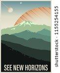 see new horizons. retro future... | Shutterstock .eps vector #1155254155