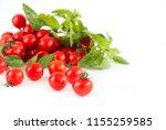 resh cherry tomatoes and herbs... | Shutterstock . vector #1155259585