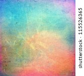 Stock photo colorful scratched vintage background 115526365