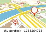navigation map. city map | Shutterstock .eps vector #1155264718
