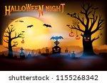 halloween night concepts  dark... | Shutterstock .eps vector #1155268342