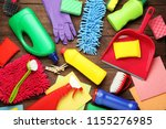 bottles with detergent and... | Shutterstock . vector #1155276985