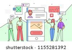 flat illustration of users with ...