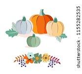 autumn harvest and thanksgiving ... | Shutterstock .eps vector #1155282535