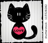 Valentine Card With Cat