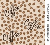 seamless pattern with coffee... | Shutterstock .eps vector #1155284428