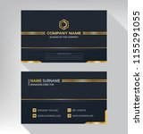 business model name card luxury ... | Shutterstock .eps vector #1155291055