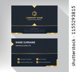 business model name card luxury ... | Shutterstock .eps vector #1155293815