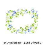beautiful decorative floral... | Shutterstock . vector #1155299062