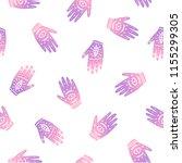 magical ritual hands. vector... | Shutterstock .eps vector #1155299305