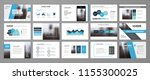 modern presentation slide... | Shutterstock .eps vector #1155300025