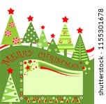 christmas red green tag for... | Shutterstock . vector #1155301678