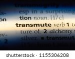 Small photo of transmute word in a dictionary. transmute concept.