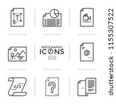 set of thin line icons or... | Shutterstock .eps vector #1155307522
