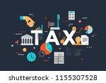 thin line flat design banner... | Shutterstock .eps vector #1155307528