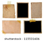 collection of old photos and...   Shutterstock . vector #115531606