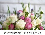 beautiful spring flowers on... | Shutterstock . vector #1155317425