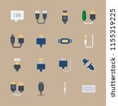 connector icons set. display ... | Shutterstock .eps vector #1155319225