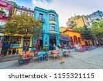 istanbul  turkey  street with... | Shutterstock . vector #1155321115
