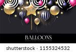 realistic glossy and... | Shutterstock .eps vector #1155324532