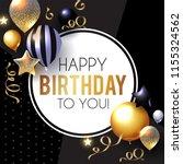 happy birthday  celebration ... | Shutterstock .eps vector #1155324562