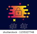 lock line icon. private locker... | Shutterstock .eps vector #1155327748
