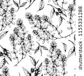 vector seamless pattern with... | Shutterstock .eps vector #1155331288