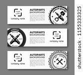 auto parts banner. modern... | Shutterstock .eps vector #1155333325