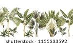 tropical vintage botanical palm ... | Shutterstock .eps vector #1155333592