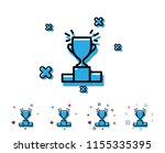 winner podium line icon. sports ... | Shutterstock .eps vector #1155335395